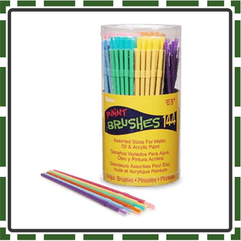 Canister Best Kids paint brushes