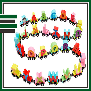 Wooden train set Best ABC toy for kids
